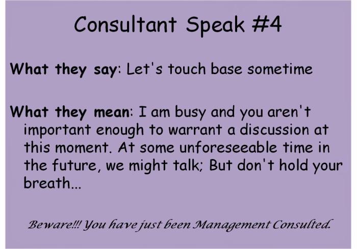 Consultant Speak #4